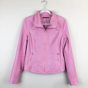 Elie Tahari Pink Leather Jacket